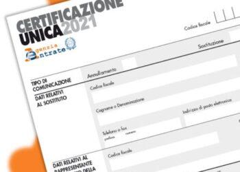 certificazione unica 2021 scadenza prorogata